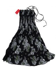 Black dress with flower print VESG02 to buy in bulk or detail in the Handicrafts category.