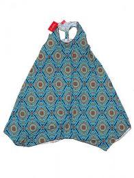 Vestido hippie con estampado Mod Azul