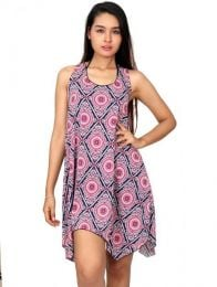 VESN02 mandala print hippie dress to buy wholesale or detail in the category of Women's Hippie Clothing | ZAS Alternative Store.