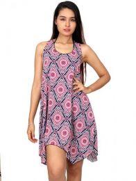 Vestido hippie estampado mandalas VESN02 para comprar al por mayor o detalle  en la categoría de Ropa Hippie para Mujer.