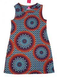 Vestido hippie con estampado Mod Gris