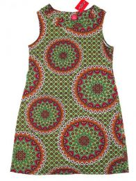 Vestido hippie con estampado Mod Verde