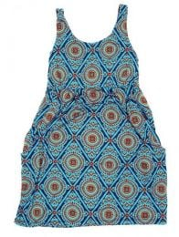 Vestido hippie suelto con Mod Azul