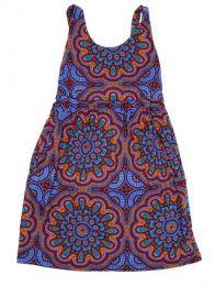 Vestido hippie suelto con Mod Morado