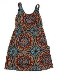 Vestido hippie suelto con Mod Gris