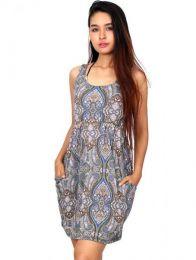 Vestido hippie suelto con detalle del producto