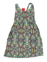 Vestido hippie suelto con Mod Verde