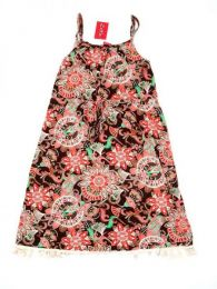 Vestido hippie suelto estampado Mod 182