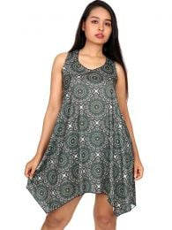 VESN15 mandala print hippie dress to buy wholesale or detail in the category of Women's Hippie Clothing | ZAS Alternative Store.