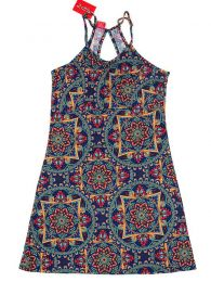Vestido hippie com estampa de mandala VESN17 para comprar a granel ou em detalhes na categoria Acessórios alternativos hippie.
