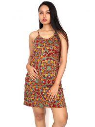 Vestido hippie com estampa mandala VESN17 para compra no atacado ou detalhe na categoria de Roupas Hippie Femininas.