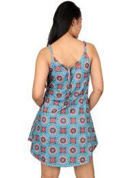 Vestidos Hippie Etnicos - Vestido hippie suelto con VESN18.
