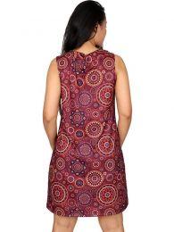 Vestidos Hippie Ethnic Boho - Vestido hippie con estampado VESN19.