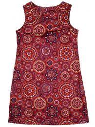 Vestidos Hippie Ethnic Boho - Vestido hippie con estampado VESN19 - Modelo Rojo