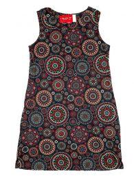 Vestidos Hippie Ethnic Boho - Vestido hippie con estampado VESN19 - Modelo Negro