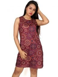 Hippie dress print mandalas. Hippie Clothing Outlet to buy wholesale or detail in the Alternative Ethnic Hippie Outlet category | ZAS Hippie Store. [VESN19]