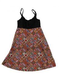 Vestidos Hippies Alternativos - Vestido hippie suelto estampado VESN20 - Modelo Naranja