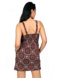 Vestidos Hippies Ethnic Boho - Vestido hippie suelto con VESN21.