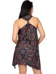 Vestidos Hippies Ethnic Boho - Vestido hippie con estampado VESN24.
