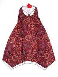 Vestidos Hippies Ethnic Boho - Vestido hippie con estampado VESN24 - Modelo Rojo