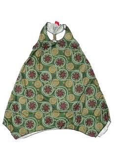 Vestidos Hippie Étnicos - Vestido Hippie com estampado VESN25 - Modelo Verde