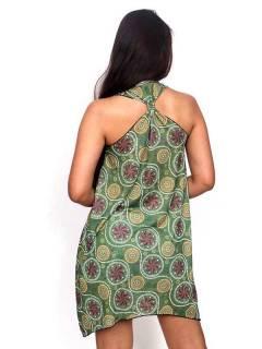 Vestidos Hippie Étnicos - Vestido Hippie com estampa VESN25.