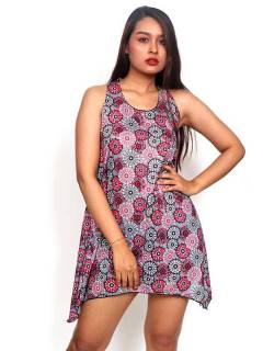 Hippie dress with mandalas print VESN26 to buy wholesale or detail in the category of Hippie Women's Clothing | ZAS Alternative Store.