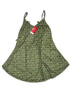 Vestidos Hippie Etnicos - Vestido hippie suelto con VESN32 - Modelo Verde