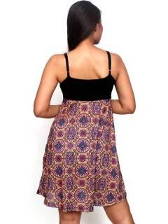 Vestidos Hippie Etnicos - Vestido hippie suelto estampado VESN34.