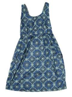 Vestido de tirantes con estampado de mandalas VESN35 para comprar al por mayor o detalle  en la categoría de Complementos Hippies Alternativos.