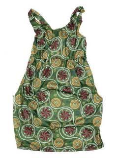 Vestido de tirantes con estampado de mandalas VESN36 para comprar al por mayor o detalle  en la categoría de Complementos Hippies Alternativos.