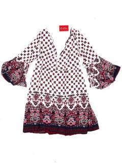 Vestido de rayón con estampados de flores VESN38 para comprar al por mayor o detalle  en la categoría de Artículos Artesanales.