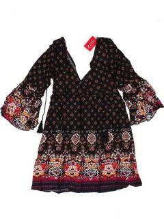 Vestido de rayón con estampados de flores VESN38 para comprar al por mayor o detalle  en la categoría de Complementos Hippies Alternativos.