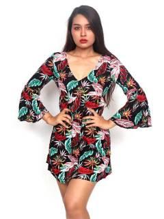 Vestidos Hippie Etnicos - Vestido hippie suelto con VESN39.