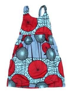Vestidos Hippie Boho Alternativos - Vestido hippie suelto con VESN44 - Modelo Azul