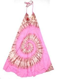 Monos y Petos / Vestidos largos - Vestido largo Tie dye muy VETO01 - Modelo Rosa