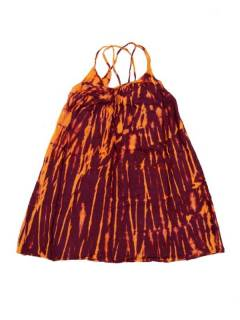 Vestidos Hippie Boho Alternativos - Vestido hippie corto suelto VETO02 - Modelo Rojo