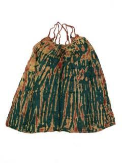 Vestidos Hippie Boho Alternativos - Vestido hippie corto suelto VETO02 - Modelo Verde