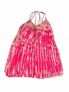 Vestidos Hippie Boho Alternativos - Vestido hippie corto suelto VETO02 - Modelo Rosa