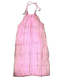 Monos Petos y Vestidos largos - Vestido largo Tie dye muy VETO03 - Modelo Rosa