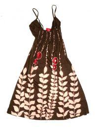 Vestido de algodão com estampa floral VEUN01 para comprar no atacado ou detalhes na categoria Alternative Ethnic Hippie Outlet | Loja ZAS Hippie.