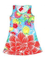 Vestido estampado flores VEUN101 para comprar al por mayor o detalle  en la categoría de Artículos Artesanales.