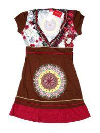 Vestidos Hippie Boho Alternativos - Vestido hippie con detalles VEUN104 - Modelo Marrón