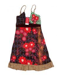 Vestidos Hippie Boho Étnico - Vestido hippie con estampados VEUN106 - Modelo Marrón