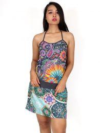 Vestido Buho étnico estampado, para comprar al por mayor o detalle  en la categoría de Decoración Étnica Alternativa. Incienso y Expositores | ZAS Tienda Hippie.[VEUN108]