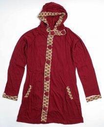 chaqueta larga detalles estampados, Mod Rojo