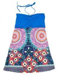 Outlet Ropa Hippie - Vestido palabra de honor con VEUN66 - Modelo Azul