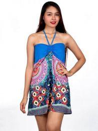 Outlet Ropa Hippie - Vestido estampado étnico [VEUN66] para comprar al por mayor o detalle  en la categoría de Outlet Hippie Étnico Alternativo.
