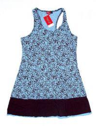 Vestido detalles estampados Mod Azul