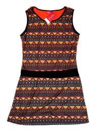 Vestidos Hippie Ethnic Boho - Vestido con frontal estampados VEUN83.